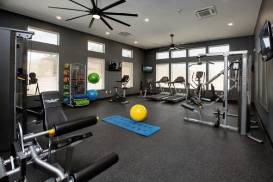 Fully equipped, state of the art fitness center.