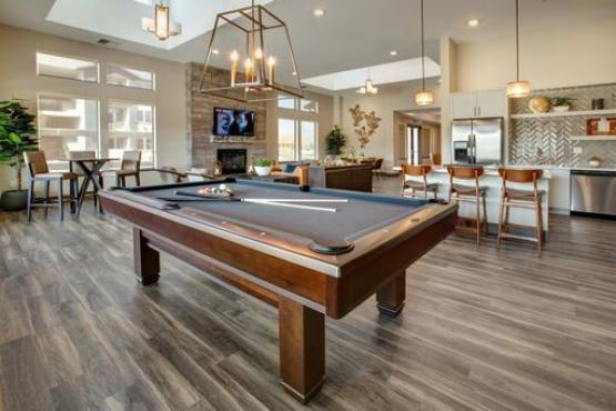 Enjoy a game of pool in the clubhouse.